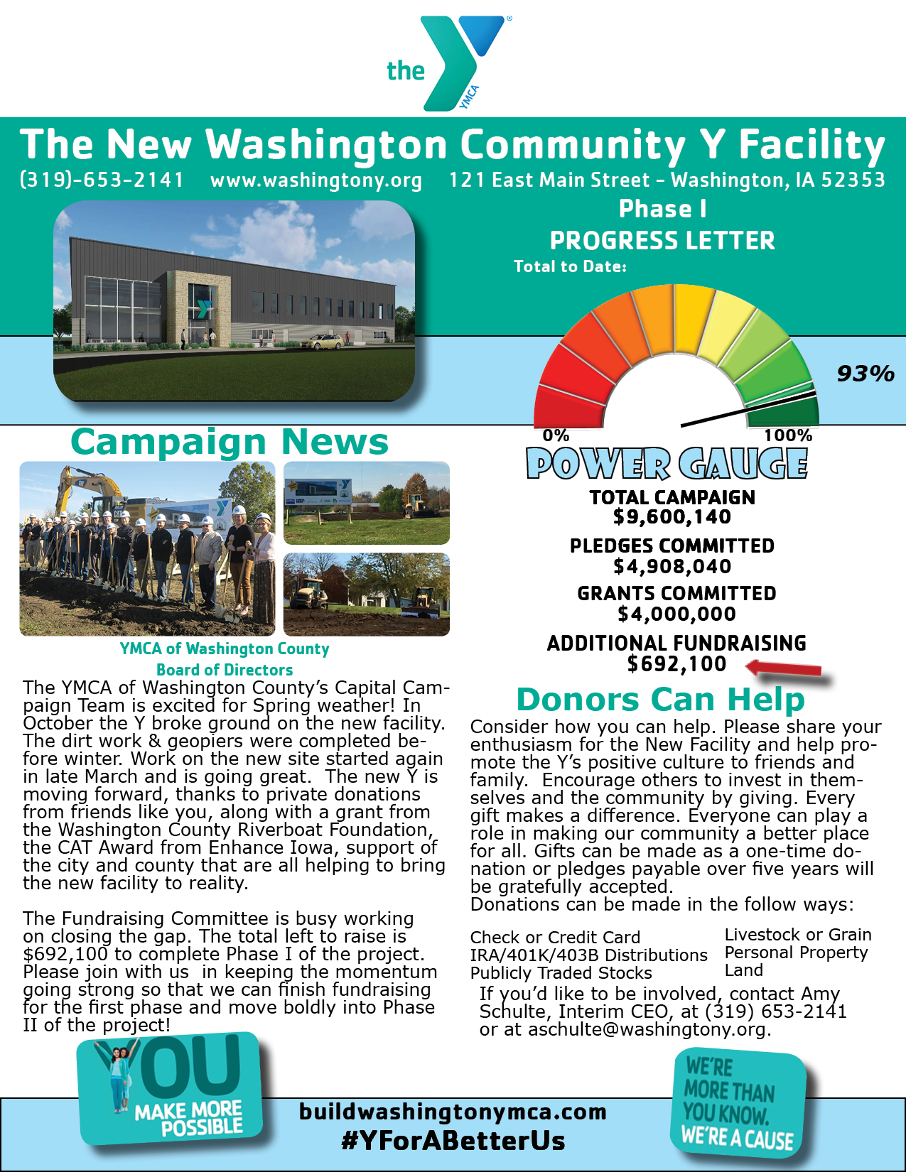 Capital Campaign Newsletter April 2019