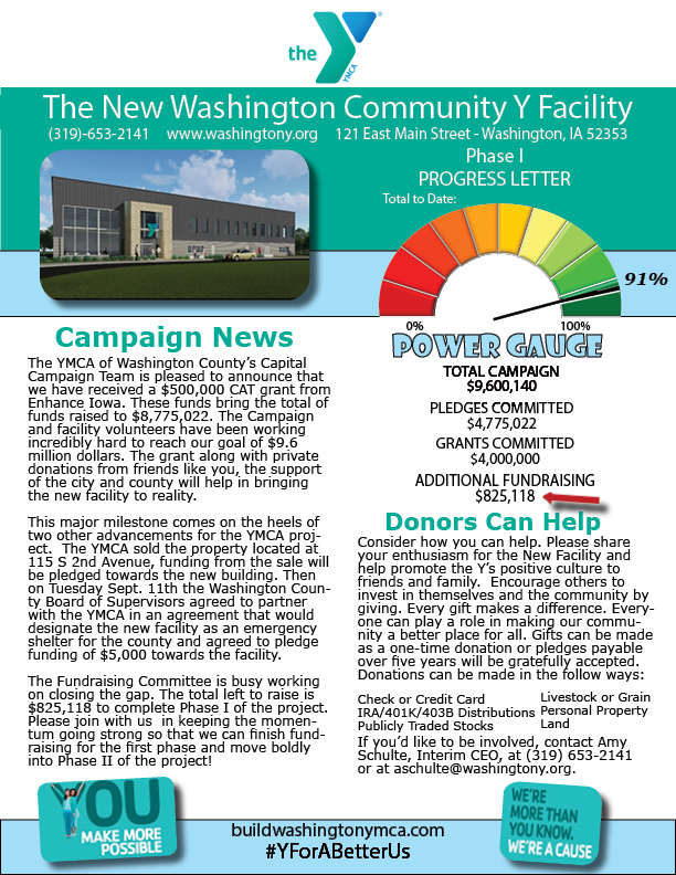 Newsletter #4 for Capital Donnors