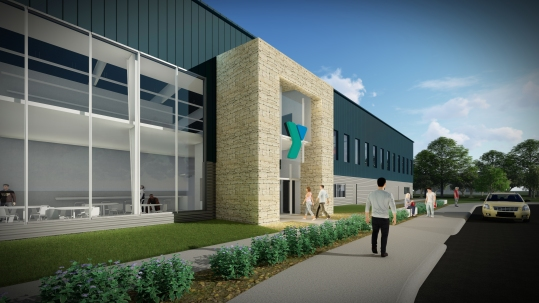 New YMCA of Washington Co. Exterior Design Close Near