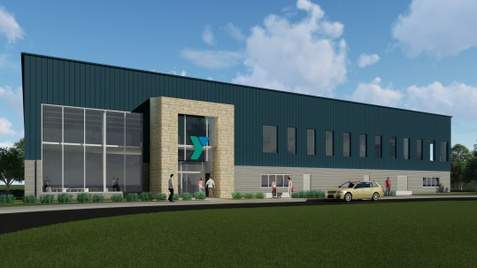New YMCA of Washington Co. Exterior Design Wide